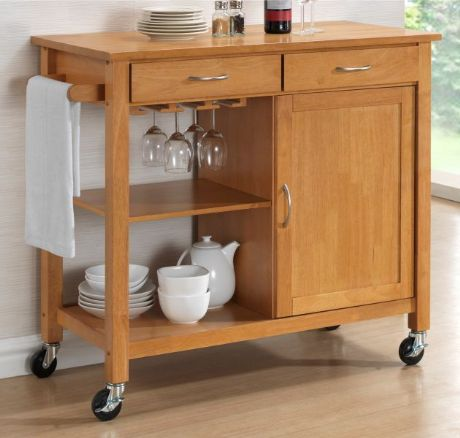 Hardwood Oak Finish Kitchen Trolleys. Half Price Sale Now On At Your Price Furniture
